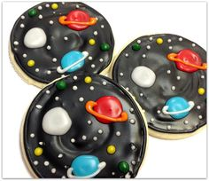 Outer Space Sugar Cookies Planets Iced by SugarMeDesserterie