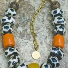 Bone giraffe bead necklace