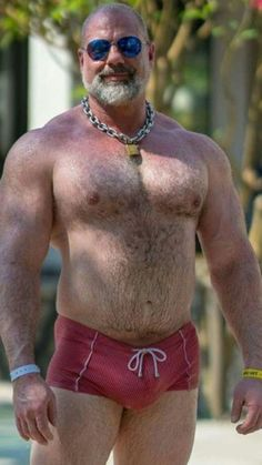 🔞🐻I Love underwear bulge Hot Beards, Beefy Men, Muscle Bear, Daddy Bear, Big Muscles, Muscular Men, Mature Men, Hairy Chest, Big Guys