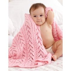 Caron Simply Soft Little Girl Pink Baby Blanket – Knitting-Warehouse Baby Knitting Patterns, Baby Patterns, Free Knitting, Blanket Patterns, Crochet Patterns, Caron Simply Soft, Knitted Baby Blankets, Knitted Afghans, Blanket Yarn