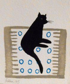 Cat on a Rug, Mary Fedden