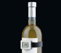 Cilio Digitales Weinthermometer: Weinthermometer einfach auf die Flasche klemmen - die Temperatur wird nach wenigen Sekunden angezeigt, automatische Ein- und Ausschaltfunktion beim Aufsetzen und Abnehmen von der Flasche, Bedienungsanleitung mit empfohlener Tem