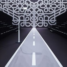 Fashion Intersects the Interstate: Viktor & Rolf FW14 Fashion Show Set