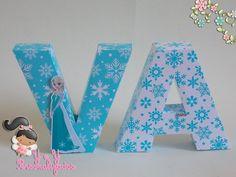 Letra 3d Frozen | YeY Personalizados | Elo7