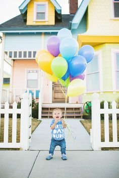Cute photoshoot for a little boy's first birthday