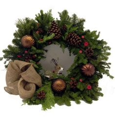 Canada Floral Delivery-Christmas Flowers-Christmas Reindeer Wreath