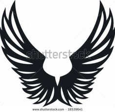 Vectorial big spread eagle two wings design by Queen soft, via ShutterStock
