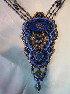 Made by Kiowa Rose Beads Kiowarose.com or kiowarosebeads.etsy.com  Vintage Blue