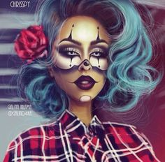 Scary Pinup - Halloween Ideas - Gorgeous Makeup and Costume Costume Halloween, Maske Halloween, Halloween Pin Up, Halloween Makeup Looks, Halloween 2017, Halloween Ideas, Fantasy Make Up, Theatrical Makeup, Make Up Art