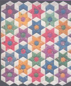 english paper piecing patterns | star bouquet pattern includes paper pieces pre cut paper shapes ...