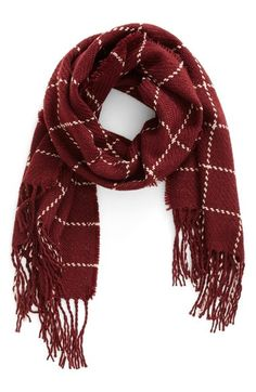 BP. Stitched Grid Scarf available at #Nordstrom