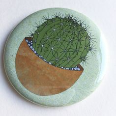 regalo impresión de cactus pocket mirror  espejo por katebroughton
