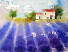 Watercolors by Maria Stezhko (Акварели Марии Стежко): Summer in Provence