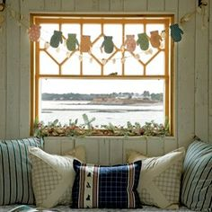 Window treatment, would be cute in a sun room or child's room