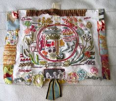 A few weeks ago I started a great embroidery sampler by Rebecca Ringquist. I'm happy to report I finished it. I left it on the back burner a bit (family visiting etc.) but it's done! I think the border turned...