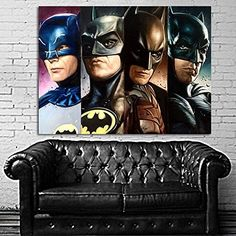 Poster Mural Comic Batman Dark Knight Generations Pop Art 40x54 inch (100x135 cm) Adhesive Vinyl -- Want to know more, click on the image. (This is an affiliate link and I receive a commission for the sales)