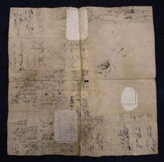Boro paper from old ledger books used in pawn shops to wrap goods