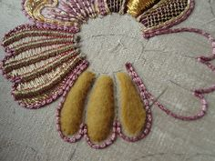 Goldwork embroidery: some technical details.