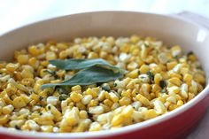 fresh corn with sage & browned butter