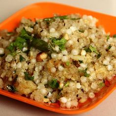 Sabudana Khichdi Recipe - An indian dish made from Sabudana Seeds typically prepared in western and central part of india.