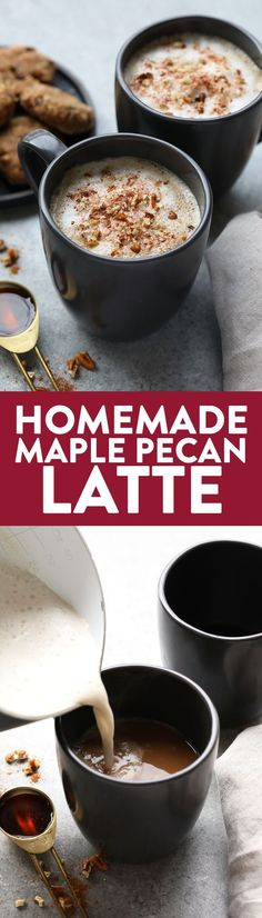 Who needs to go to a coffee shop when you can make your own luscious latte at home without an espresso machine! You're going to love this DIY Maple Pecan Latte made with cold brew and Vanilla Silk Almond Creamer.