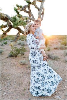 Amie Pendle Photography Desert Family Portraits Mommy and Me Joshua trees, Utah Photographer Southern Utah