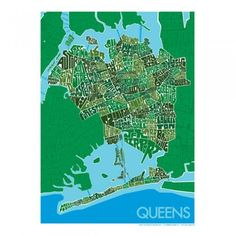 Lockwood - Hand Drawn Queens, New York Map Prints