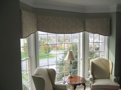 custom window valances for bay window