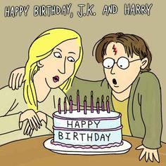Happy J.K. Rowling And Harry Potter Birthday Day! Break out the Chocolate Frogs!