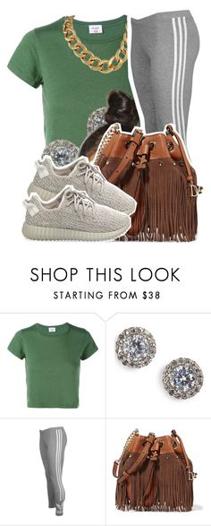 """6/30/16"" by lookatimani ❤ liked on Polyvore featuring RE/DONE, Nadri, adidas Originals and Diane Von Furstenberg"