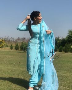 Image may contain: one or more people, people standing and outdoor - Design interests Designer Punjabi Suits Patiala, Patiala Suit Designs, Indian Designer Suits, Kurta Designs Women, Kurti Designs Party Wear, Patiala Salwar Suits, Pakistani Dress Design, Choli Designs, Churidar