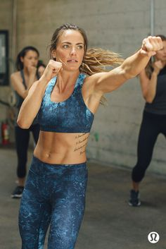 Technical, sweat-wicking training gear. Sport bras and pants that keep you going when your work out heats up.