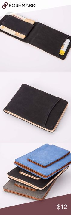 """Slim Wallet Money Clip Unisex Features: Casual, Travel style Bullet Points: dull polish Condition: Brand new, casual style, portable Material: dull polish leather Style: ID CARD Wallet Size: 4.5"""" x 3"""" Bags Wallets"""