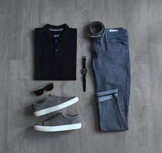 CHICS KIND is an online magazine for men's fashion. Look Fashion, Daily Fashion, Mens Fashion, Casual Wear, Casual Outfits, Men Casual, Mode Outfits, Fashion Outfits, Outfit Grid