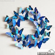 3D Butterflies Wall Decals Magnetic Fridge Wall Decor