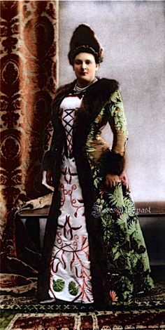 Princess Elena Constantinova Kochubey at the Winter Palace Masquerade Costume ball, 1903, in 17th-century Polish gentrywoman's attire by ~VelkokneznaMaria.