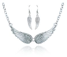 Angel Wings Choker Necklaces and Earrings  / Offer Value $39.95 Yours $1 Only!