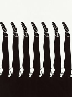 Japanese graphic designer employed a strong use of negative space in his artwork