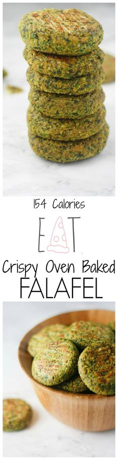 Easy Oven Baked Falafel - Easy, baked falafel recipe that is crispy and delicious. Perfect in a pita pocket or in addition to a salad! | It's Cheat Day Everyday.