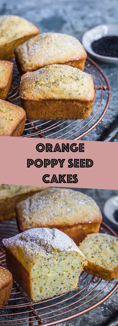 simple cake batter made into mini cake loaves! simple cake batter made into mini cake loaves! Mini Cakes, Cupcake Cakes, Cupcakes, Orange Poppy Seed Cake, Cake Recipes, Dessert Recipes, Delicious Desserts, Snack Recipes, Vegetarian Recipes