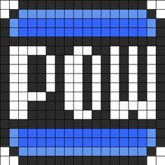 Mario Bros POW Block Perler Perler Bead Pattern / Bead Sprite