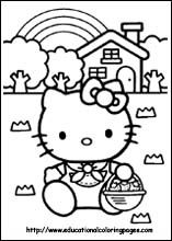 Free Hello Kitty Coloring Pages.