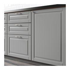 BODBYN Dörr för bänkhörnskåp, 2 delar, grå 25x80 cm grå
