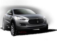 Maserati Kubang Design Sketch