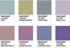 Pantone Color of the Year 2018 - Color Palette Purple Haze : The Pantone System offers carefully graded color samples of different hues and variations in their value and intensity Pantone Colour Palettes, Color Schemes Colour Palettes, Colour Pallette, Pantone Color, Color Combinations, Color Trends 2018, 2018 Color, Azul Niagara, Deco Violet