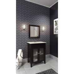 Picture Gallery Website Gorgeous master bathroom features a light grey double vanity adorned with polished nickel knobs