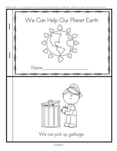 Earth Day Emergent Reader for Preschool, Pre-K and Kindergarten FREE More from my siteHappy Earth DayEarth Day BooksFree Printable Recycling Sort Used 3 WaysEarth Day Activities for KidsEarth Day Hand Print CraftEarth Day Activities for Kids Earth Day Activities, Spring Activities, Classroom Activities, Art Activities, Recycling Activities For Kids, Earth Day Worksheets, Science Worksheets, Activity Ideas, Therapy Activities
