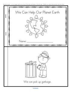 Earth Day activities for preschool, pre-K and Kindergarten