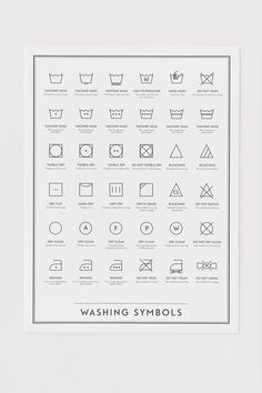 Poster - Blanc/Instructions de lavage - HOME | H&M BE