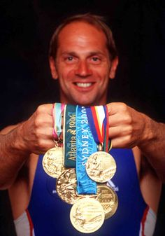 Sir Steve Redgrave - Rowing  1984 Los Angeles - Coxed Four,  1988 Seoul - Coxless Pair,  1992 Barcelona - Coxless Pair,  1996 Atlanta - Coxless Pair,  2000 Sydney - Coxless Four